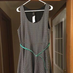 Lane Bryant Sleeveless Polka Dot Dress